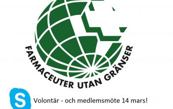Volontär- och medlemsmöte imorgon 14 mars kl 18!
